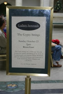 Gypsy Strings Play Django Reinhardt at the Rivera Court, Detroit Institute of Arts deedsphotos