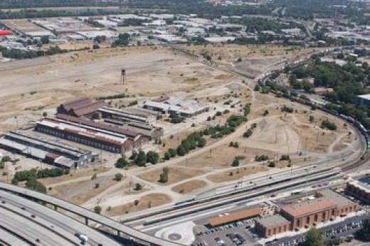 One of The Potential Sites of the New Arena is the Old Railyard Next to Downtown.  But City Leaders Failed to Promote the Plan and it was Defeated.