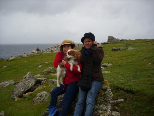 Celia and me in Anagh Head (very windy)