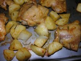 Rosemary chicken and potatoes