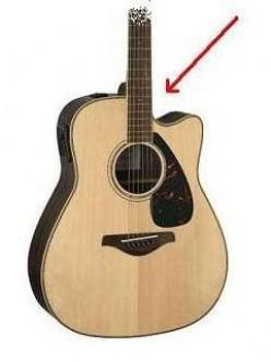 Acoustic Guitar with cutaway (arrow)