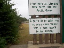 The Arctic Watershed marked near Kenogami Lake