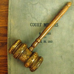 Judges and Magistrates Rule - The Wooden Gavel is Used to Bring Court to Order