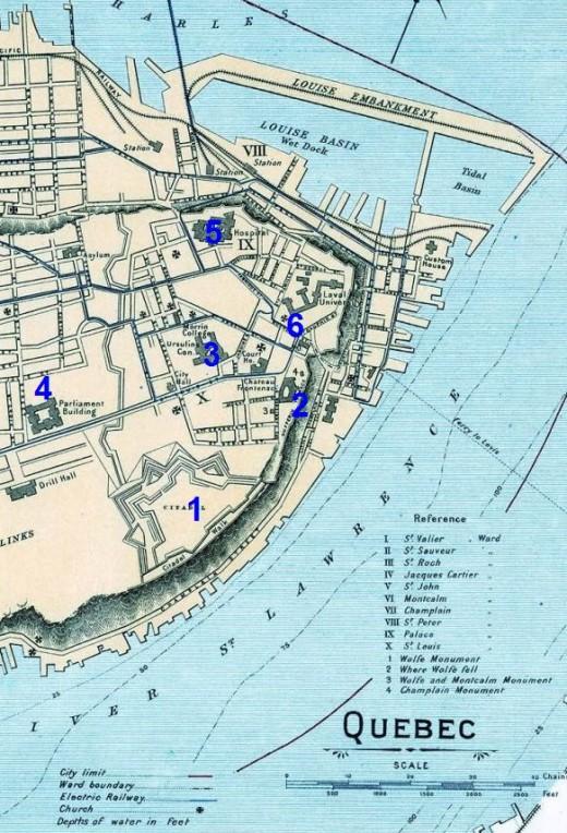 1906 map of Quebec City