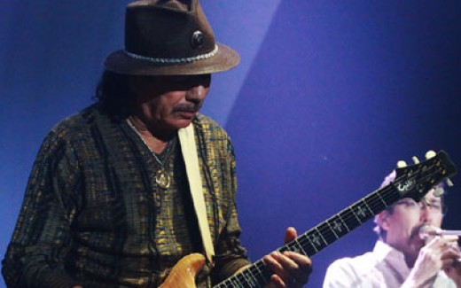 Santana in his performance.