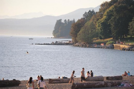 English Bay is a great place right next to Stanley Park