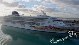 I took this photo of Norwegian Sky while we were on Norwegian Dawn.
