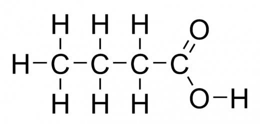 The main chain is 4 carbons long, there is a carboxylic acid group: butanoic acid