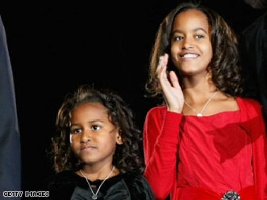 Sasha and Malia