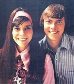 Karen Carpenter, with her brother, early in her career.