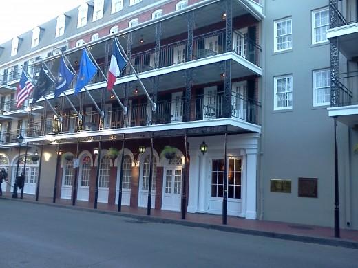 The Inn on Bourbon entrance
