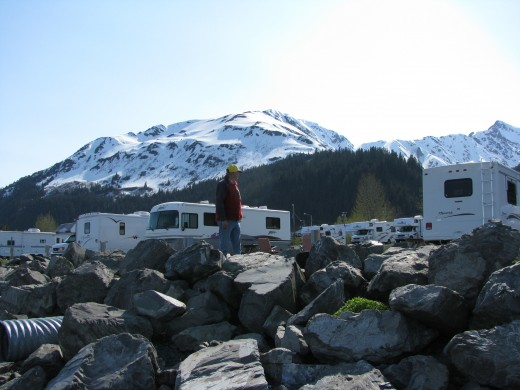 Our campground in Seward.
