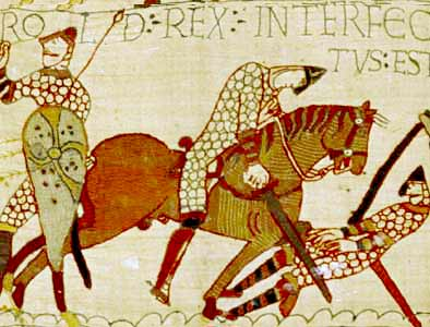 Somebody being nasty to somebody else at the Battle of Hastings in 1066
