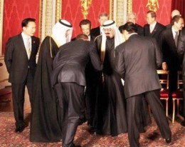 All that bowing didn't calm the Middle East