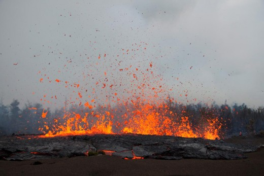 March 2011 - lava spewing out of Kilauea