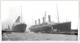 RMS Titanic & Olympic together