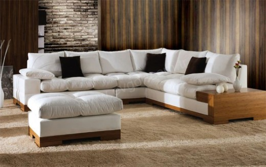 Microfiber Sectional Sofa Set