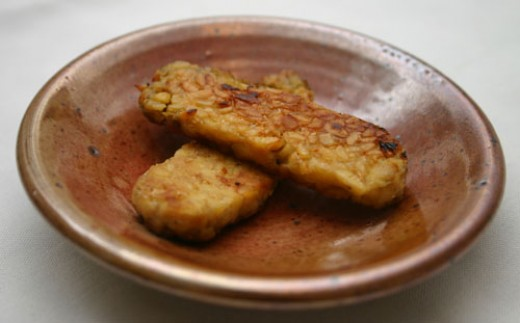 The tempeh is done when both sides are golden brown and crispy