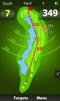 Display on Golf Budy - Top rated golf GPS 2015