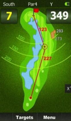 Display on Golf Budy - Top rated golf GPS 2015