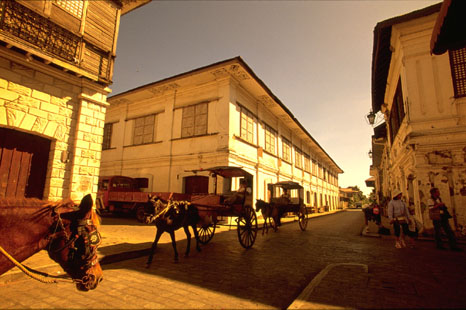 Cobblestone Streets In Vigan