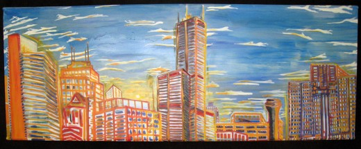 "Oil on canvas stretched over repurposed wood. 78"" x 40"" x 3"" 2007"