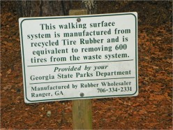 Ask DJ Lyons: Recycled Tire Rubber at Tallulah Gorge State Park in GA
