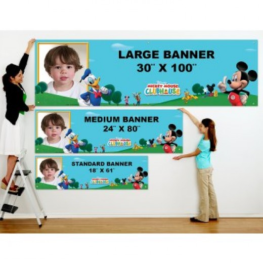 Mickey Mouse Clubhouse Personalized Photo Banner