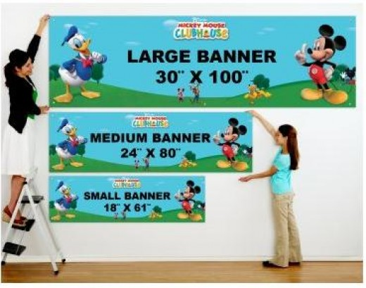 Mickey Mouse Clubhouse Personalized Birthday Banner