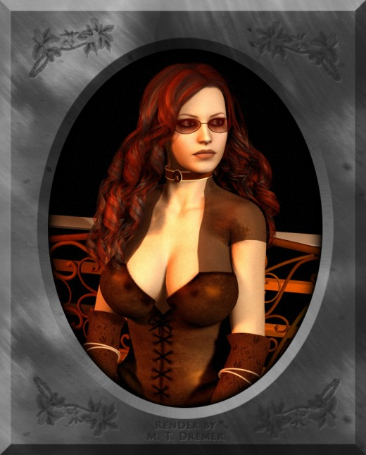 A portrait of a SteamPunk inspired woman.