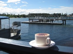 My favourite coffee place on the lake in Forster !