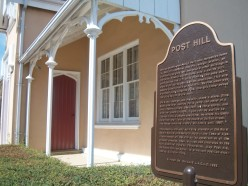 Post Hill House, Ajax, with commemorative plaque