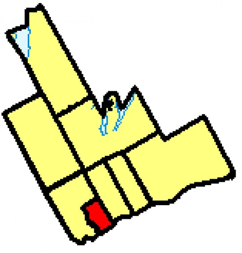 Map location of Ajax in Ontario's Durham Region