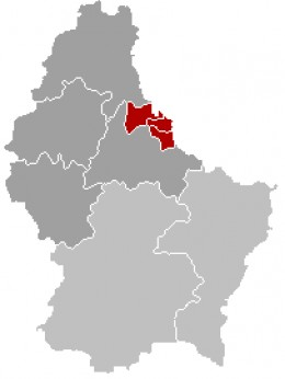 Map location of Vianden, Luxembourg