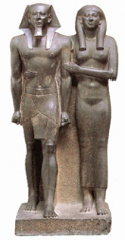 Menkaure and His Wife, Queen Khamerernebty Statue