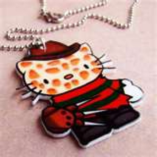 Freddy has become a part of everyday life. Here we see his image on Hello Kitty