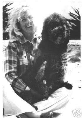 Doris Day and one of her beloved pets at home in California.