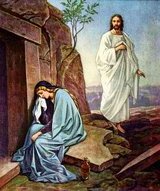 Jesus Ressurection with Mary Magdalene