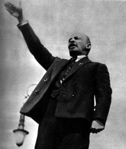 Lenin giving a speech prior to 1923