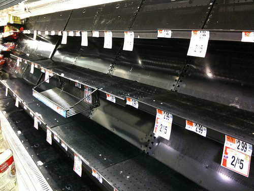 What if you went to the store, and this is all you saw? Remember, people have survived for centuries without grocery stores.