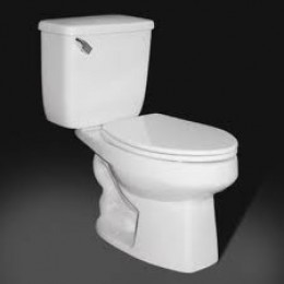 a toilet with the lid...down