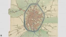 J. van Deventer's ca. 1558 map of Bruges
