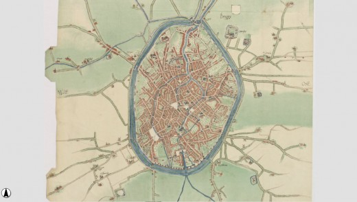 J. van Deventer's ca. 1558 map of Bruges