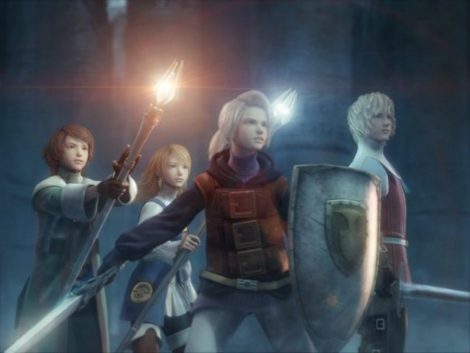 This is part of Final Fantasy 3's (for the Nintendo DS) introductory cinematic. The story can be advanced via in-game events or cinematics such as the one referenced here.