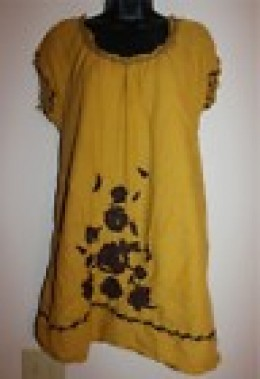 photo credit: ebay.com mustard blouse dress $19.99