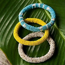 photo credit: athleta.com Mustard mix beaded bangles. Regularly priced at $33. On sale for $15.99