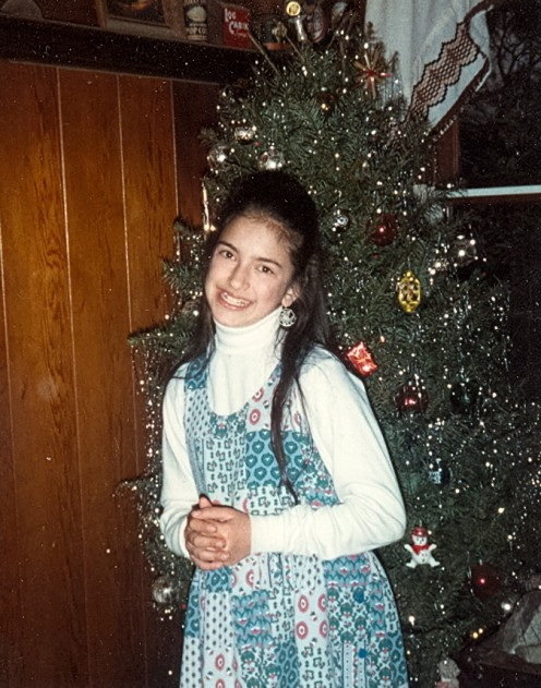 What songs do you like to listen to while decorating the Christmas tree?  This is a picture of me in 1989.