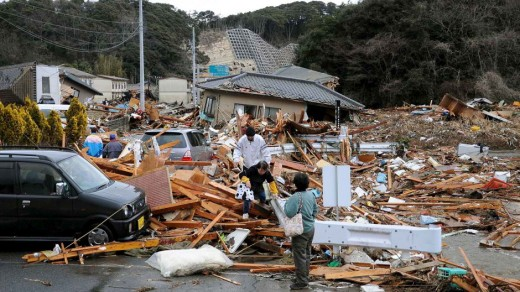 The aftermath of the 8.9 magnitude of earthquake @ Iwaki, Fukushima prefecture, Japan, March 11, 2011