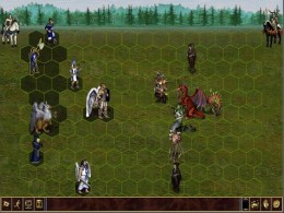 This is a screenshot from Heroes of Might and Magic 3. This is an example of a TBS game, where players take turns managing their kingdom and battling neutral monsters and other players.