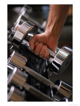 Adding weights to your workout will help you increase muscle. With each week, try to increase it just a little more.